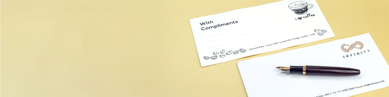 Conqueror Compliment Slips - Banner