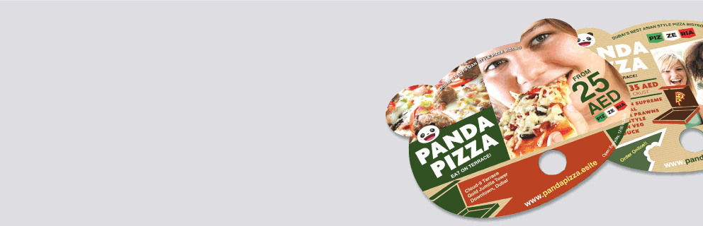 Custom Shape Paper Fans - Banner