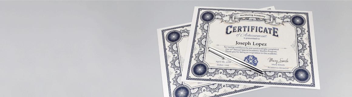 Premium Certificates - Banner