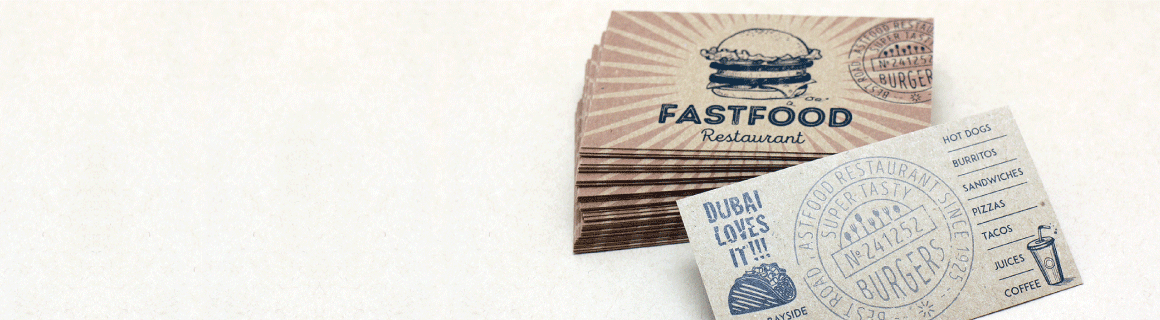 Brown Kraft Business Cards - Banner