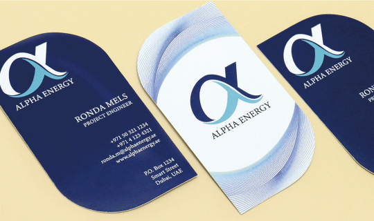 Leaf Shaped Business Cards - Banner