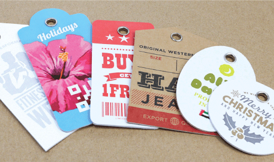 Double Pasted Hang Tags - Banner