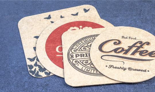 Brown Kraft Coasters - Banner