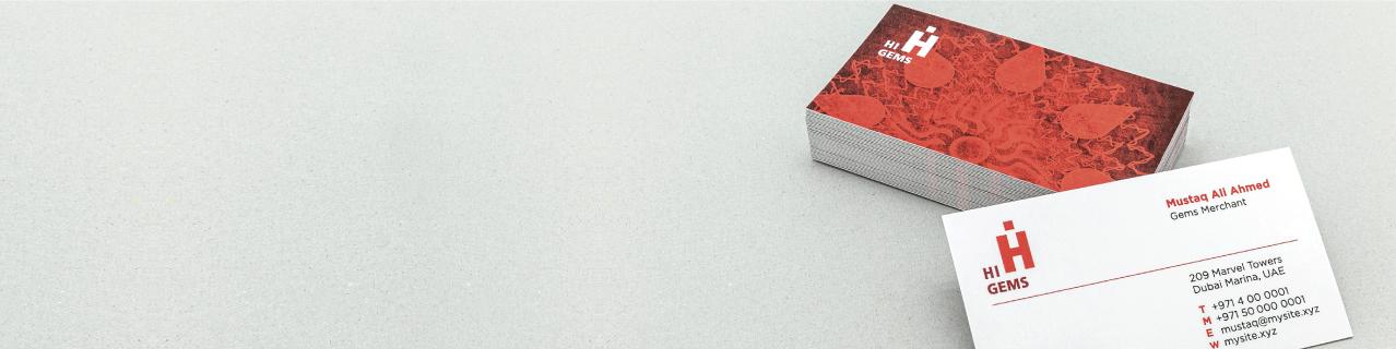 Velvet Laminated Cards - Banner