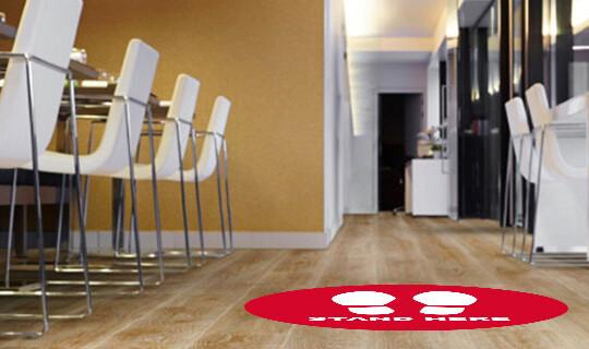 Social Distance Floor Sticker - Banner