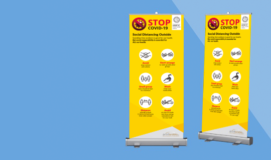 Social Distance Roll Up - Banner
