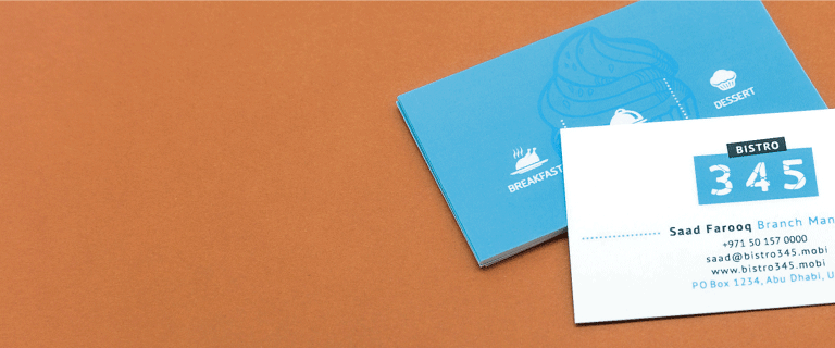 Smooth White Business Cards - Banner
