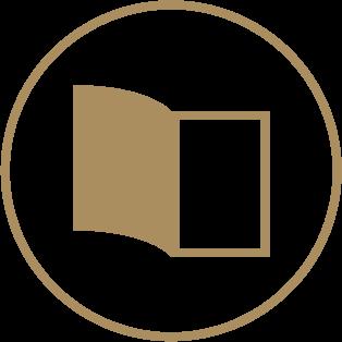 Half Fold Pamphlets - 4 Panels Pre-folded 1 Icon