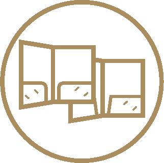 A4 Ready Shape 2-Pocket Folders - Ready Shape Templates 1 Icon