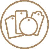 Brown Kraft Hang Tags - Ready Shape Templates 1 Icon
