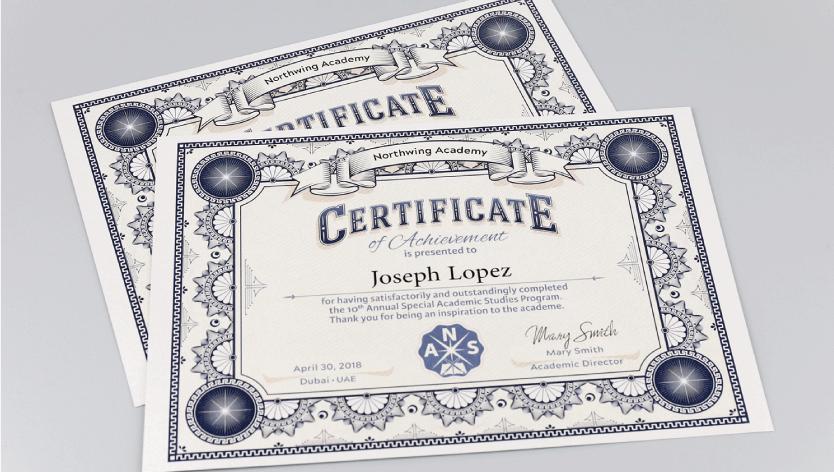 <div>Premium Certificates</div>