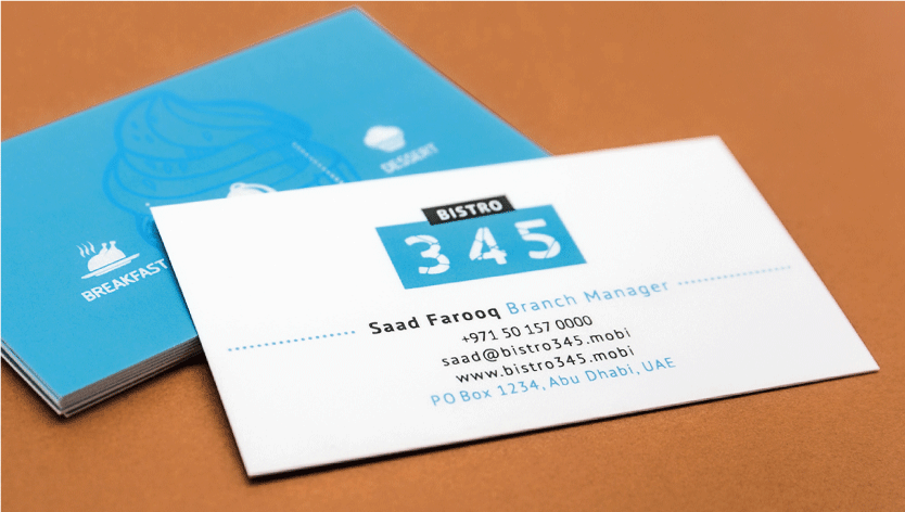 Smooth White Business Cards - Zoom 3 Image