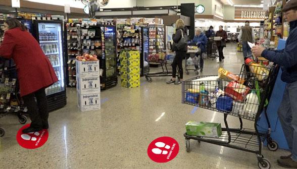 Social Distance Floor Sticker - Zoom 1 Image