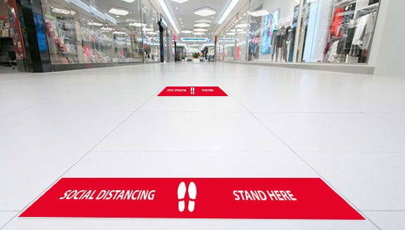Social Distance Floor Bar - Zoom 1 Image