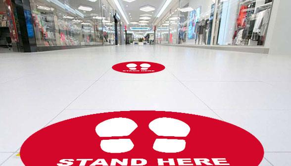 Social Distance Floor Sticker - Zoom 2 Image